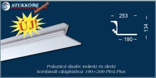 Polisztirol díszléc indirekt és direkt kombinált világításhoz Győr 190+209 PLEXI PLUS