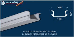 Debrecen polisztirol profil direkt és indirekt világítástechnika kiépítéséhez 190+2x205