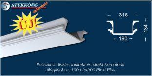 Világítástechnika polisztirol díszléc Győr 190+2x209 PLEXI PLUS