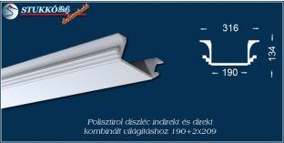 Világítástechnika polisztirol díszléc Győr 190+2x209