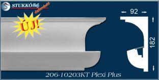 Polisztirol díszléc rejtett világítás karnistámasz Eger 206 PLEXI PLUS