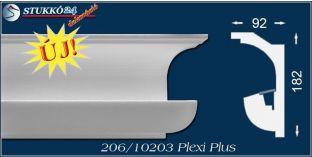 Polisztirol díszléc rejtett világításhoz Eger 206 PLEXI PLUS