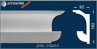 Polisztirol díszléc rejtett világításhoz Eger 206