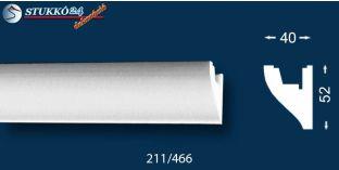 Stukkó díszléc indirekt világítással Miskolc 211
