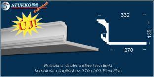 Spot lámpa és led világítás polisztirol profil Budapest 270+202 PLEXI PLUS