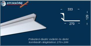 Polisztirol stukkó kombinált világítás kiépítéséhez Győr 270+209