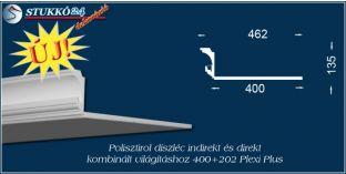 Spot izzó és LED rejtett világítás polisztirol profil Budapest 400+202 PLEXI PLUS