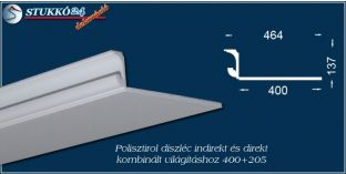 Debrecen spot lámpa rejtett világítás stukkó 400+205