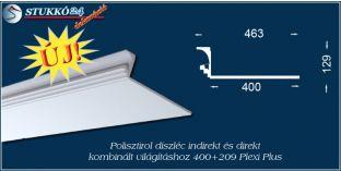 Polisztirol stukkó közvetett és közvetlen világítás kiépítéséhez Győr 400+209 PLEXI PLUS