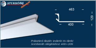 Polisztirol stukkó közvetett és közvetlen világítás kiépítéséhez Győr 400+209