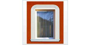 1. Kültéri stukkó dekorációs ötletek: ablakkeretezés/ajtókeretezés