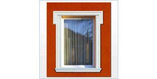 17. Kültéri stukkó dekorációs ötletek: ablakkeret, ajtókeret stukkó díszléccel