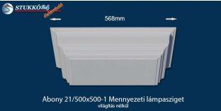 Mennyezeti lámpasziget, design lámpa Abony 21/500x500-1, világítás nélkül