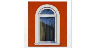 109. Kültéri stukkó dekorációs ötletek: ajtó és ablak dekoráció hajlítható díszléccel