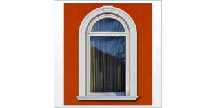 102. Kültéri stukkó dekorációs ötletek: ajtó és ablak díszítése ívre hajlítható stukkóval