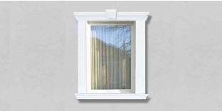26. Kültéri stukkó dekorációs ötletek: ablakkeretezés, ajtókeretezés stukkó díszlécekkel