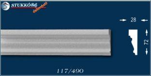 Békéscsaba 117 homlokzati polisztirol, külétri díszléc