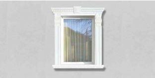 66. Kültéri stukkó dekorációs ötletek: dekoratív díszek ablakkeretezéshez, ajtókeretezéshez