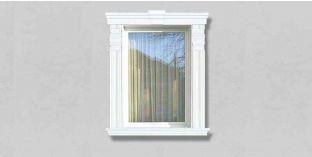 85. Kültéri stukkó dekorációs ötletek: dekoratív díszek az ablakhoz, ajtóhoz