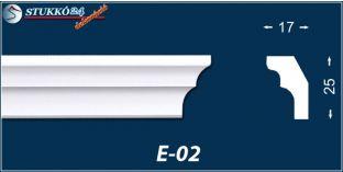 Stukkó díszléc, E-02