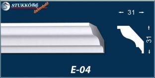 Stukkó díszléc, E-04