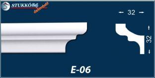 Stukkó díszléc, E-06