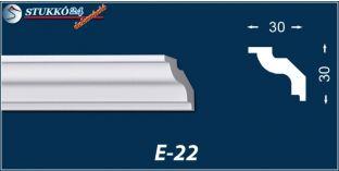 Stukkó díszléc, E-22