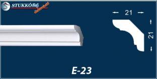 Stukkó díszléc, E-23
