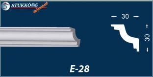 Stukkó díszléc, E-28