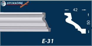Stukkó díszléc, E-31