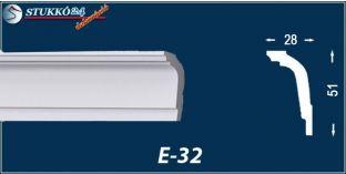 Stukkó díszléc, E-32