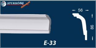 Stukkó díszléc, E-33