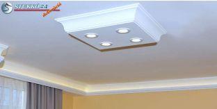 Érd 10/500x500-1 polisztirol mennyezeti lámpa LED világítással