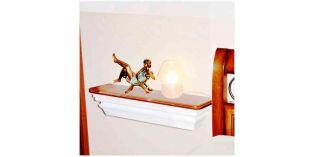 601. Beltéri stukkó dekorációs ötletek: fali polc kialakítása stukkóval