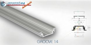 GROOVE14 alumínium profil