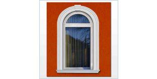 108. Kültéri stukkó dekorációs ötletek: ajtó-, ablakkeretezés hajlítható stukkó léccel