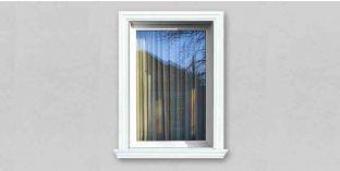 19. Kültéri stukkó dekorációs ötletek: házhomlokzat stukkó ajtókerettel, ablakkerettel