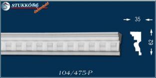 Hódmezővásárhely 104 P homlokzati díszléc, homlokzati léc