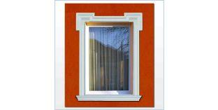 18. Kültéri stukkó dekorációs ötletek: homlokzat díszítés ajtókerettel, ablakkerettel