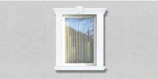 29. Kültéri stukkó dekorációs ötletek: homlokzatdíszítés ajtókerettel, ablakkerettel