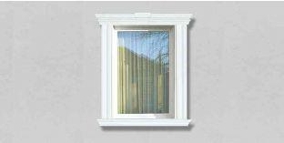 58. Kültéri stukkó dekorációs ötletek: homlokzati díszítőelemek, mint ablakdíszítés, ajtódekoráció