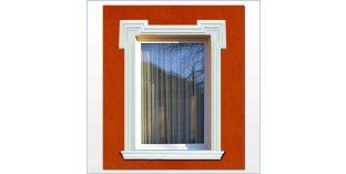 22. Kültéri stukkó dekorációs ötletek: homlokzat kialakítása stukkó ajtókerettel, ablakkerettel