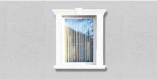 35. Kültéri stukkó dekorációs ötletek: Homlokzat profilok ajtókerethez, ablakkerethez