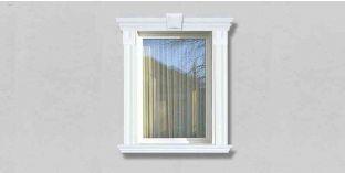 62. Kültéri stukkó dekorációs ötletek: homlokzati profilok ablakkerethez, ajtókerethez