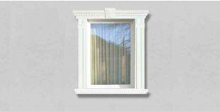 68. Kültéri stukkó dekorációs ötletek: homlokzati profilok az ablakok és az ajtók keretezéséhez