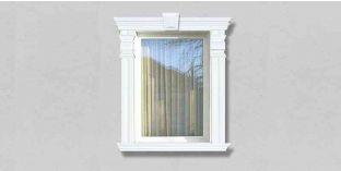 61. Kültéri stukkó dekorációs ötletek: homlokzati stukkó ablakdíszítéshez
