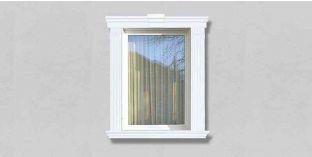 54. Kültéri stukkó dekorációs ötletek: homlokzati stukkó ajtókeretekhez, ablakkeretekhez