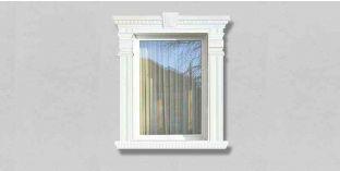 67. Kültéri stukkó dekorációs ötletek: homlokzati stukkó díszlécek az ablak díszítéséhez