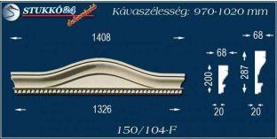Kérgesített timpanon, polisztirol dekoráció, 150/104 F 970-1020