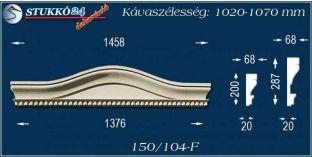 Kérgesített timpanon, polisztirol dekoráció, 150/104 F 1020-1070